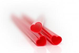 heart shaped straws