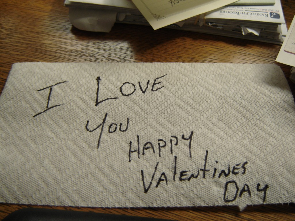 Paper Towel Valentine