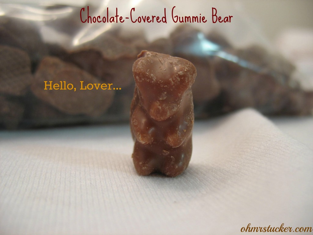 Chocolate-covered Gummie Bear