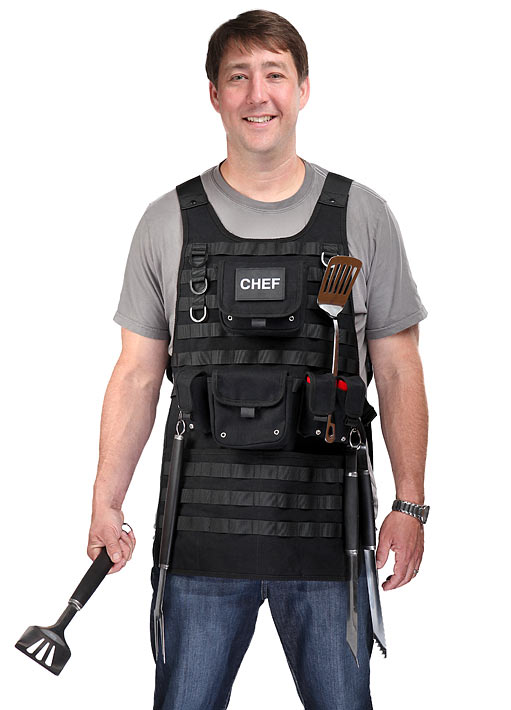 think geek tactical bbq apron