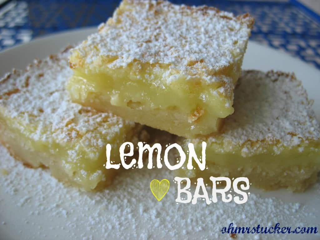 Not Chocolate Cake Lemon Bars