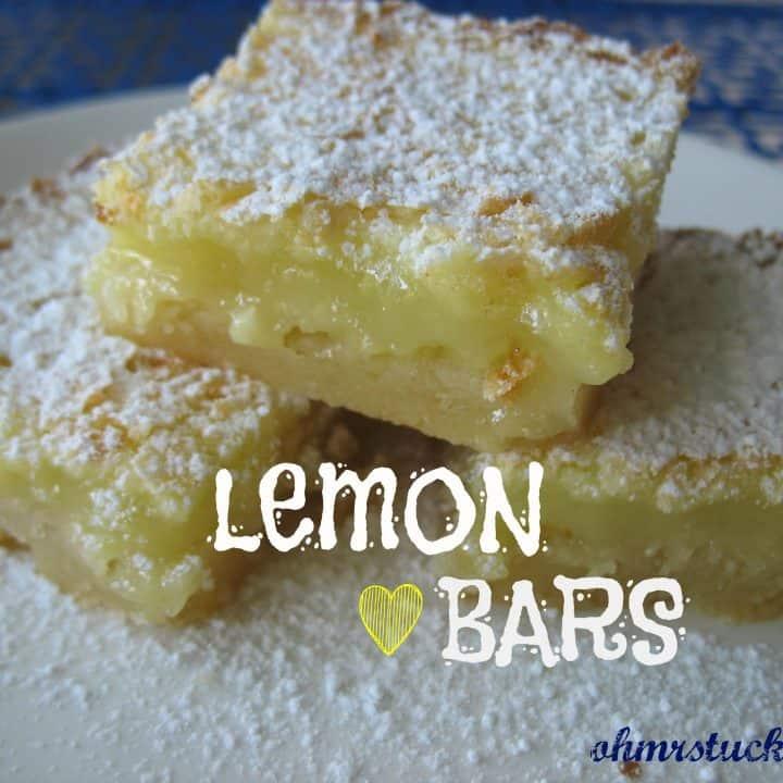 Not Chocolate Cake Lemon Bars