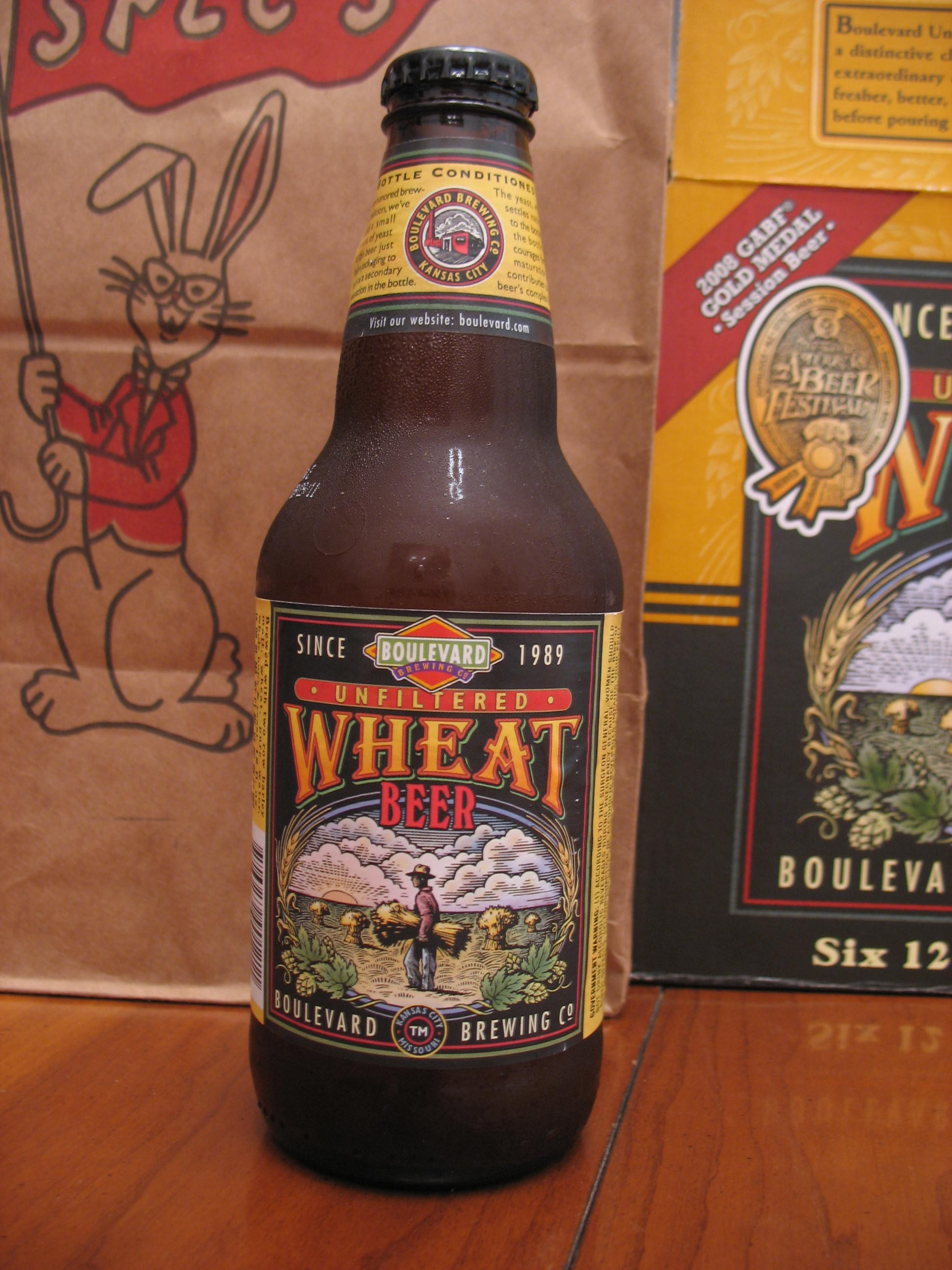 bottle of wheat beer