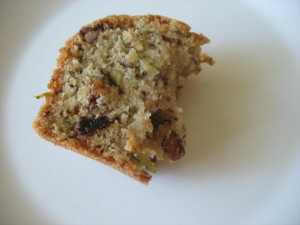 Zucchini Bread with coconut oil and raisins and nuts. #zucchinibread #quickbread #coconutoil #nuts #raisins #ohmrstucker