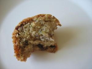 Zucchini Bread with coconut oil and raisins and nuts. #zucchinibread #quickbread #coconutoil #nuts #raisins #ohmrstucker