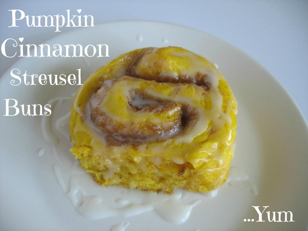 Pumpkin-Cinnamon Streusel Buns