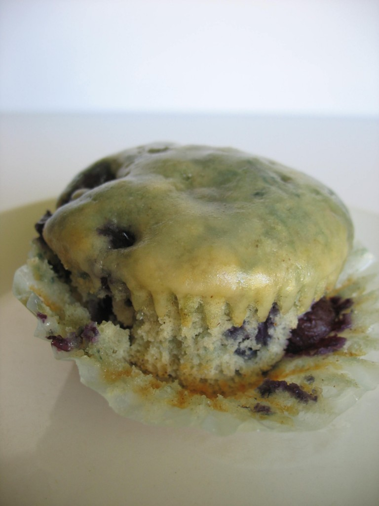 Blueberry Muffins with Double-D Donut Glaze