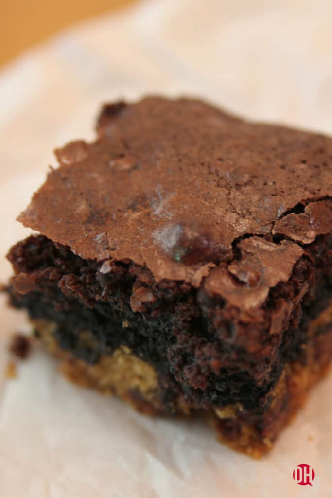 slutty brownie on parchment paper