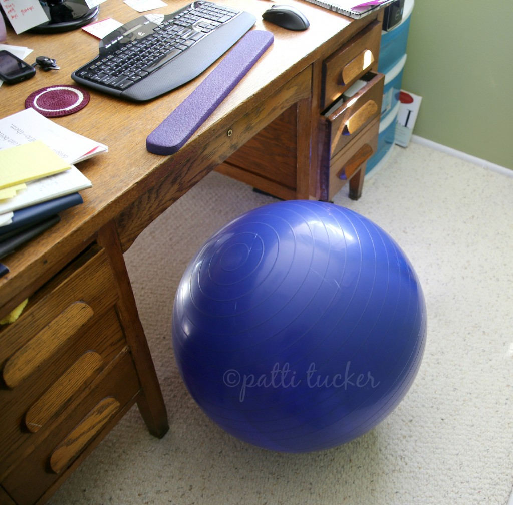 Creative Use for a Stability Ball