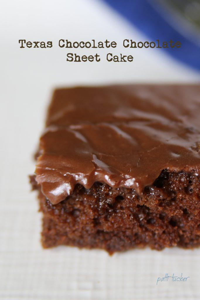 Texas Chocolate Chocolate Sheet Cake