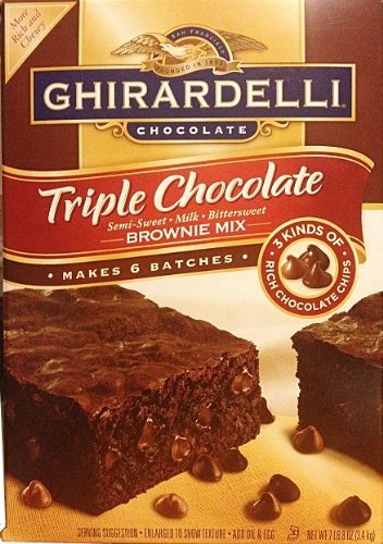 Ghirardelli Triple Chocolate mix.