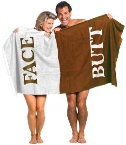 Butt Face Towel?! Butt. Face. Towel.