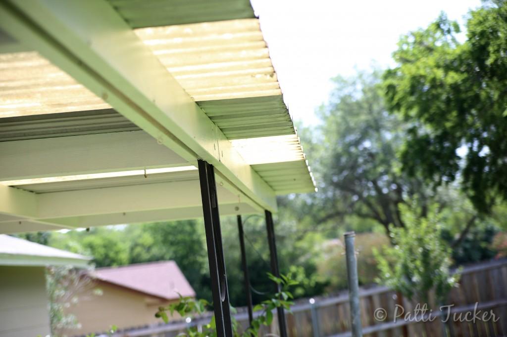 Inexpensive DIY Outdoor Patio Drop Cloth Curtains