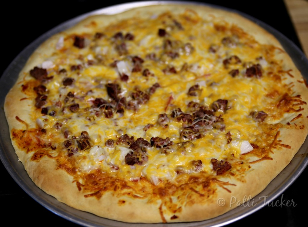 Grilled Burger Pizza