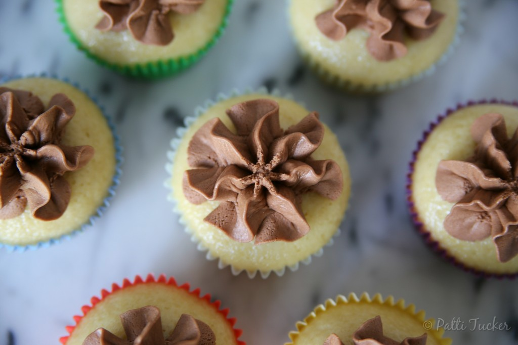 Buttermilk Cupcakes with Dark Chocolate Frosting