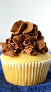 Buttermilk Cupcakes with Chocolate Buttercream