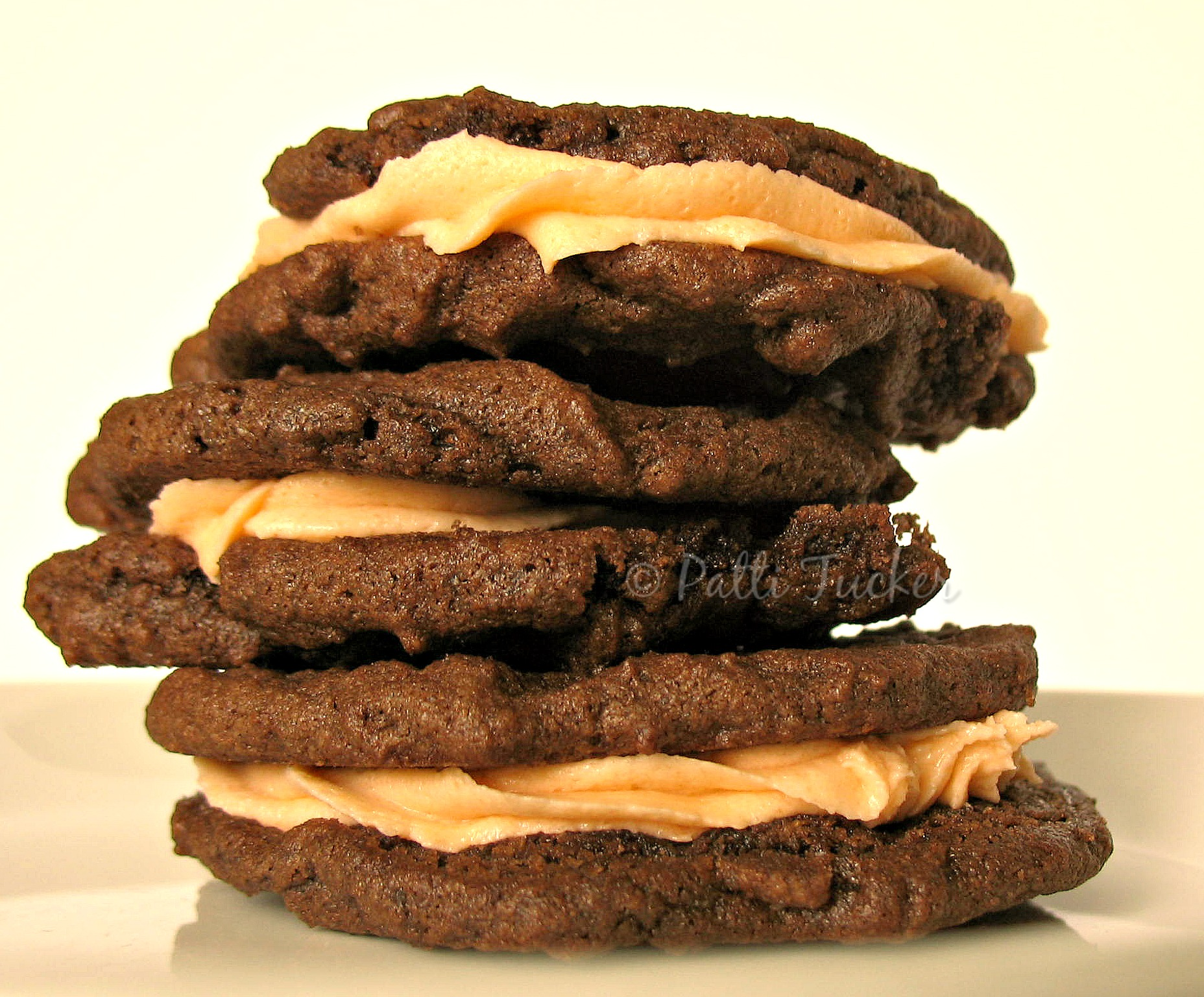 stack of The Best Filled Chocolate Cookies