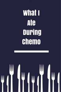 graphic: What I Ate During Chemo