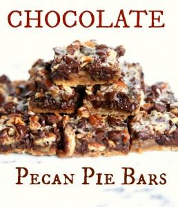 Chocolate Pecan Pie Bars? Yes, Please.
