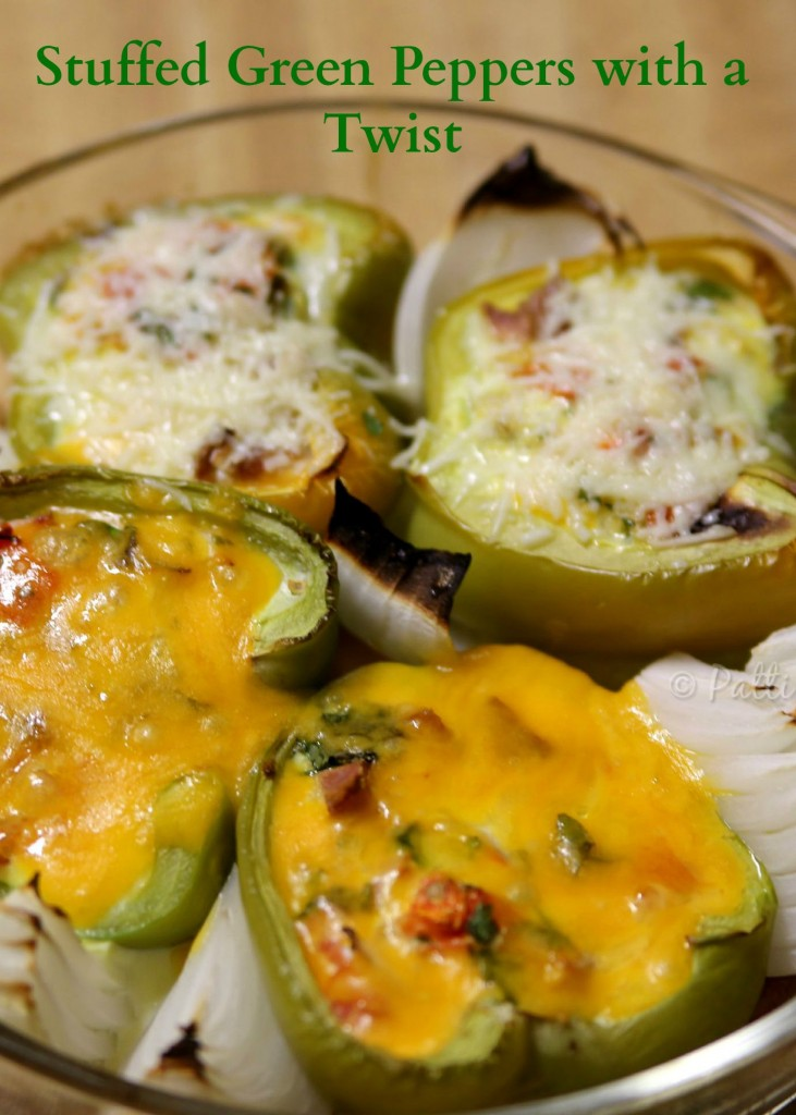Baked Green Peppers with a Twist