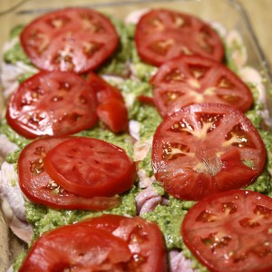 Impressive Baked Pesto Chicken