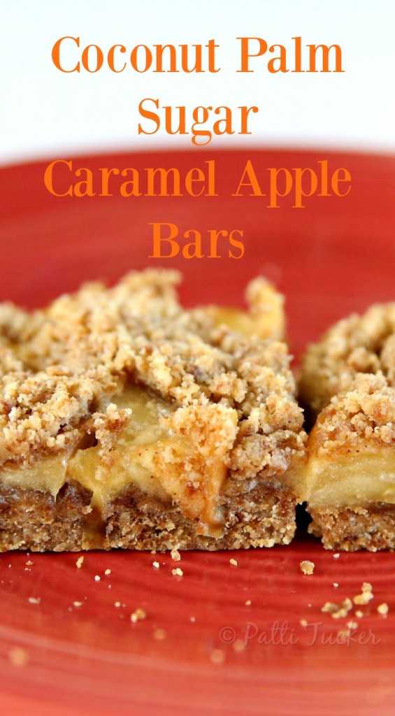 Coconut Palm Sugar Caramel Apple Bars