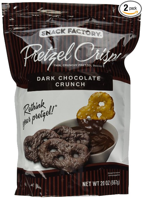 Dark. Chocolate. Pretzel. Crisps.