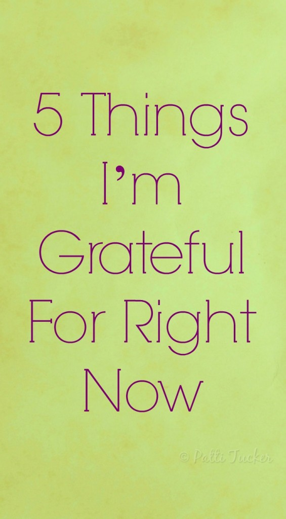 5 Things I'm Grateful For Right Now