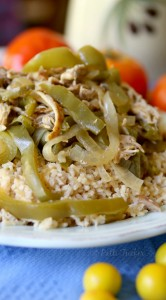 Slow Cooker Chicken Fajitas with Rice