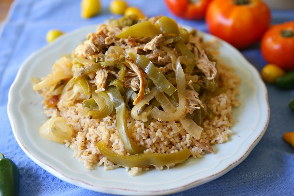 Slow Cooker Chicken Fajitas over Rice