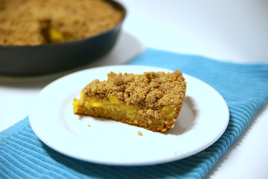Iron Skillet for Peach Crumble Coffee Cake