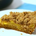 Break Out the Iron Skillet for Peach Crumble Coffee Cake