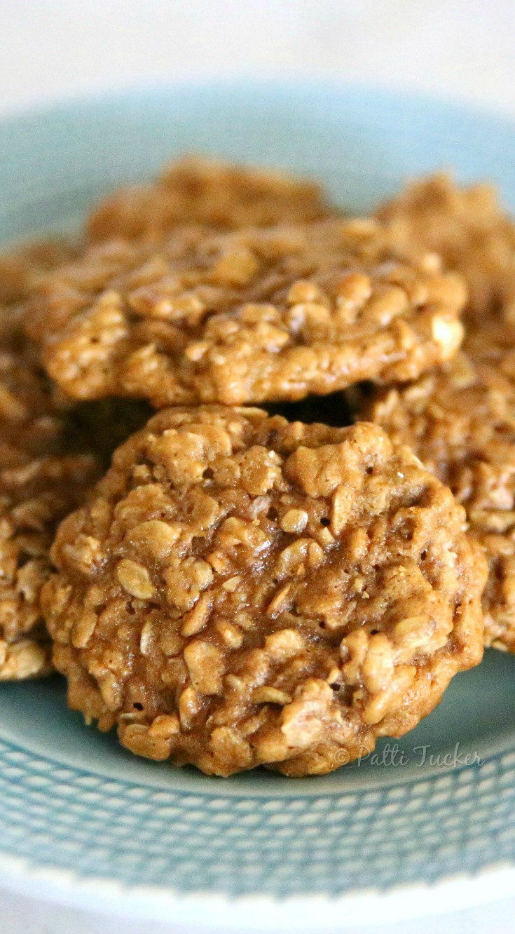 Oatmeal Cookies on a blue plate