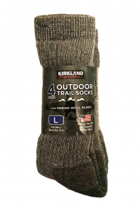 men's trail socks in a package
