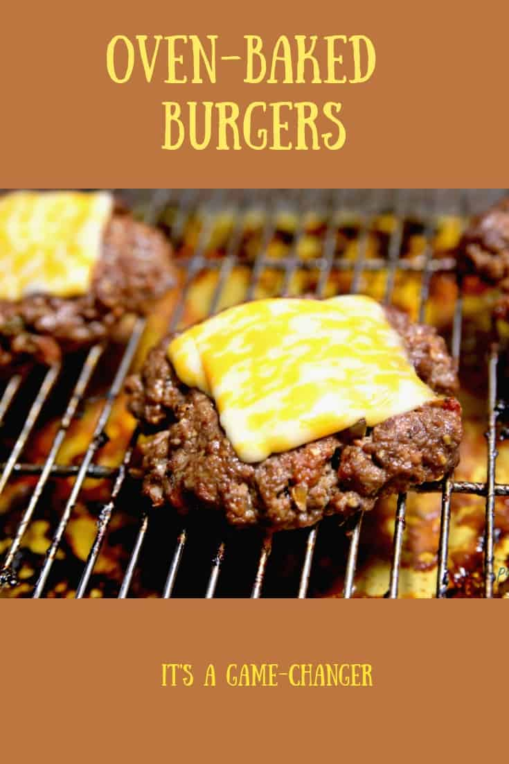 No time to grill outdoors? Make burgers in your oven! #bugers #grilled burgers #easymeal #ohmrstucker