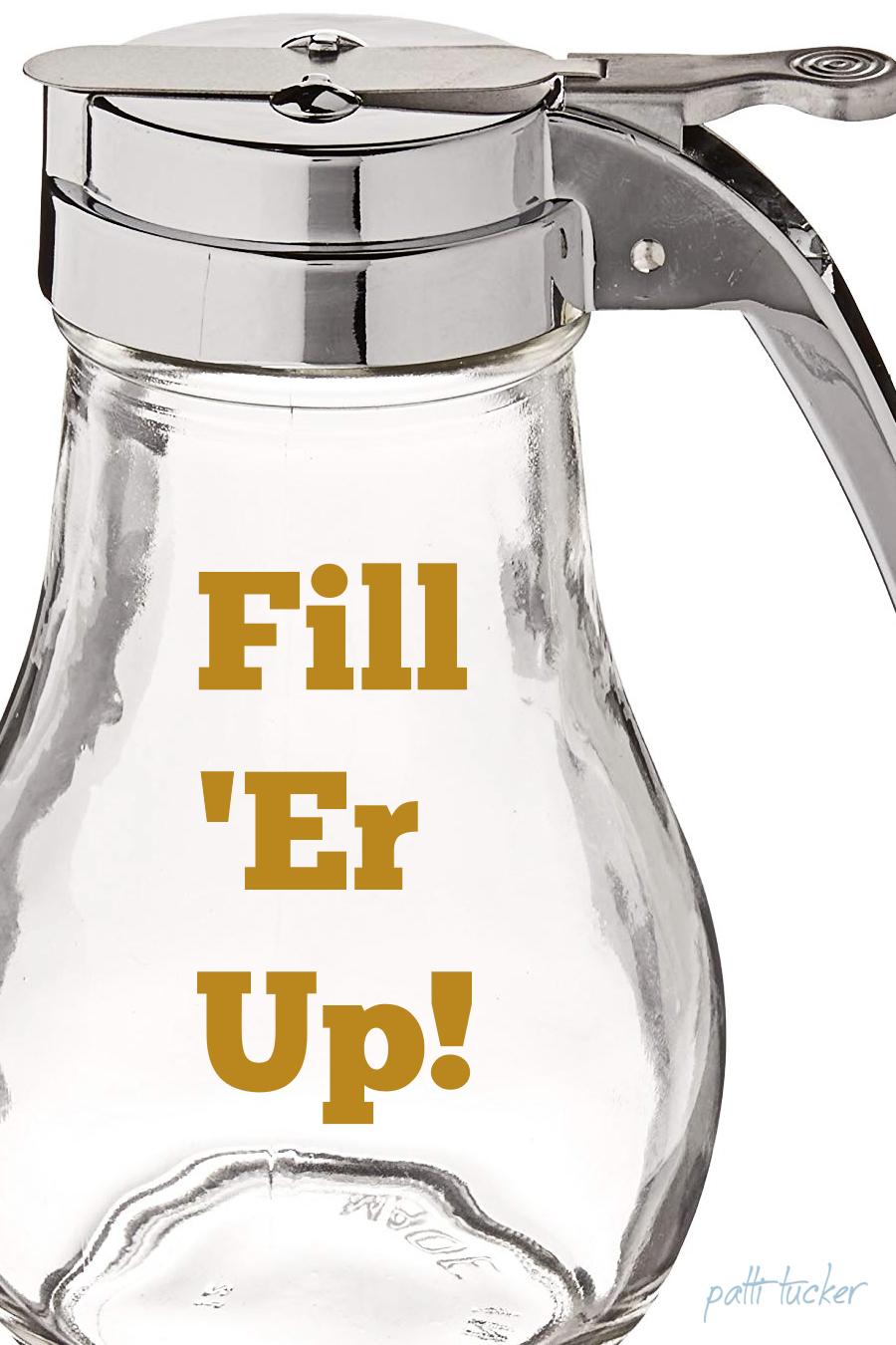 empty syrup jar