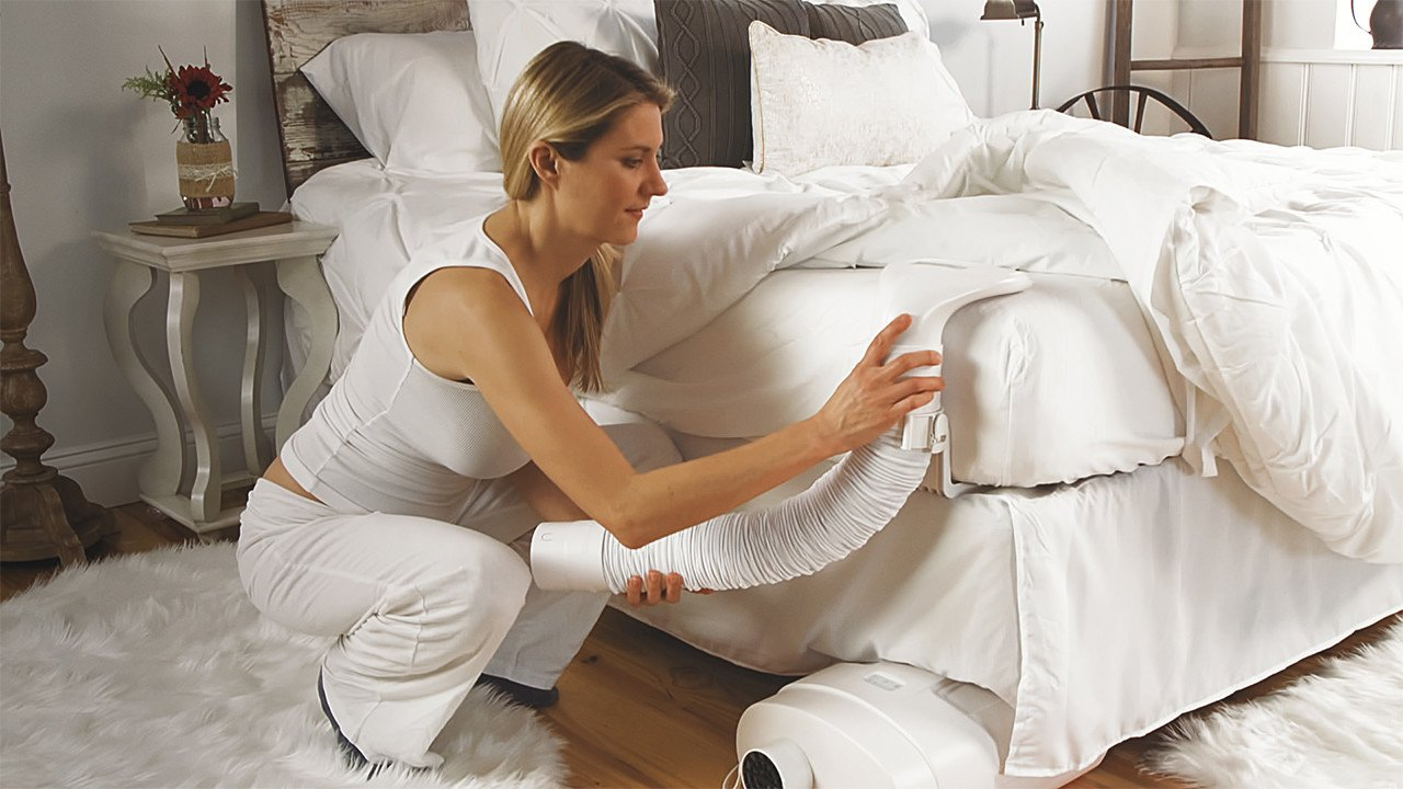 model installing a Bed Jet