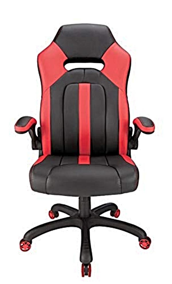 desk chair with red stripes
