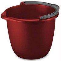 STERILITE 11205812 10QT RED Spout Pail 10 quart
