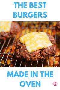 cheeseburger on a rack