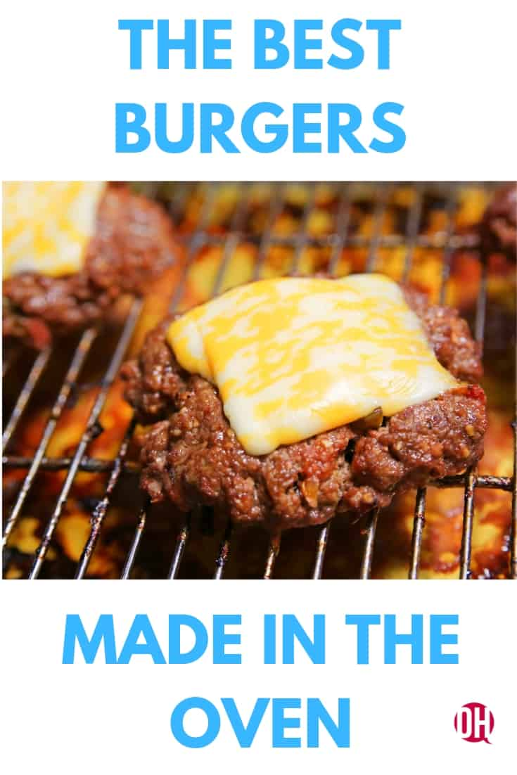 Burgers in the oven are simple and delicious. #burgers #burgersinoven #meals #ohmrstucker