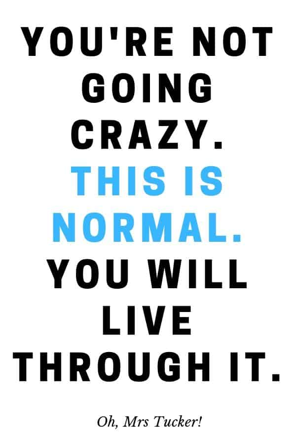 text graphic about perimenpause: you aren't going crazy. You will get through it. This is normal