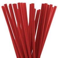 10 Inch Drinking Straws (250 Straws) (10 Inch x 0.28 Inch) (Red)