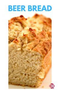 cut loaf of beer bread