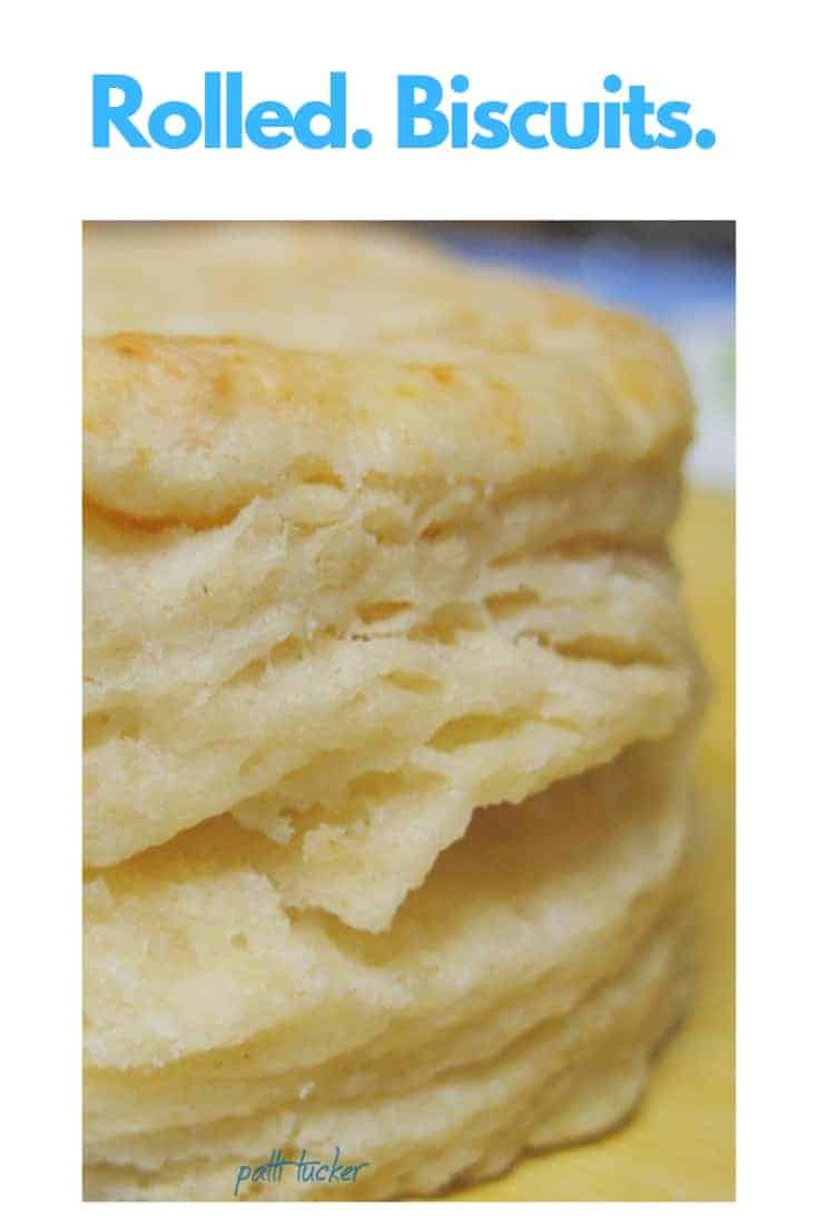 homemade rolled biscuit
