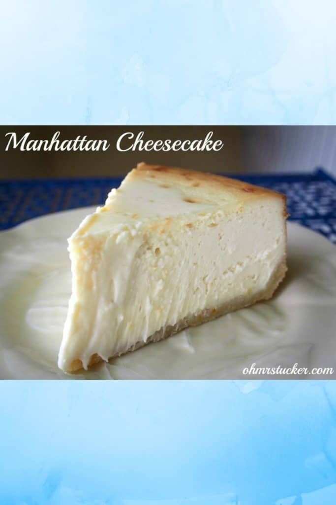 Manhattan Cheesecake Revisited
