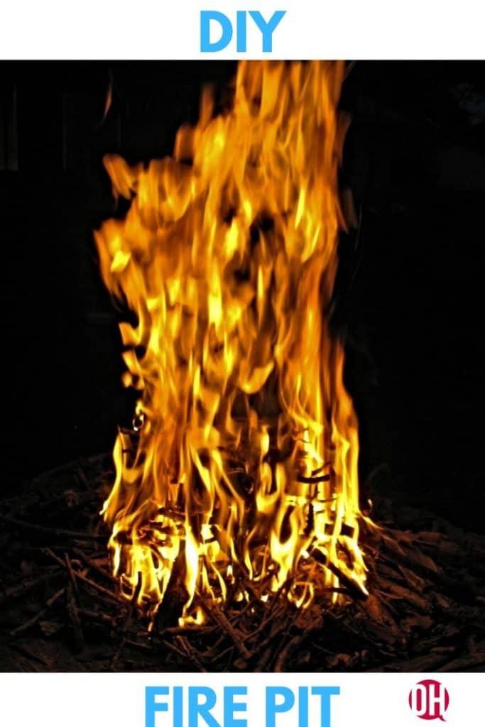 tree stump fire pit