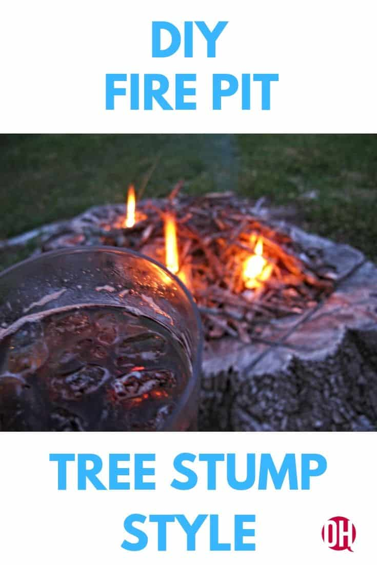 tree stump fire pit