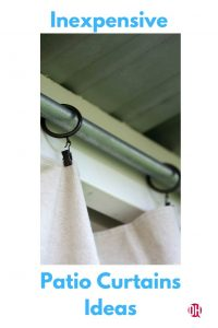 DIY Outdoor Patio Drop Cloth Curtains