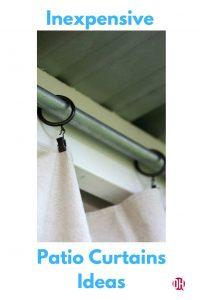 DIY Outdoor Patio Drop Cloth Curtains